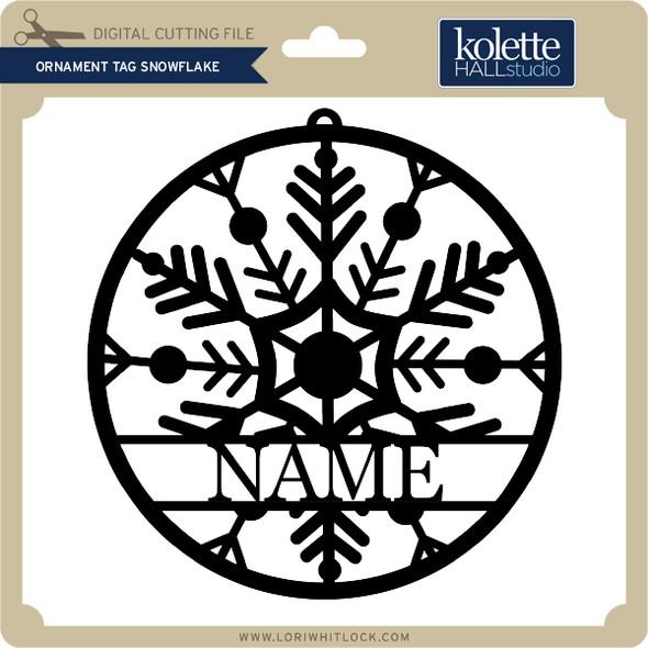 Ornament Tag Snowflake