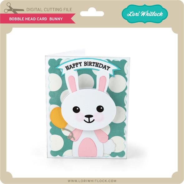 Bobble Head Card Bunny