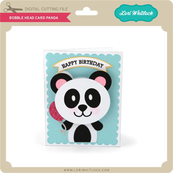 Bobble Head Card Panda