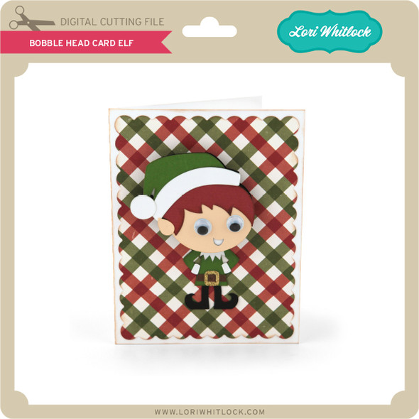Bobble Head Card Elf