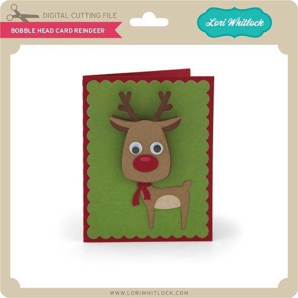 Bobble Head Card Reindeer