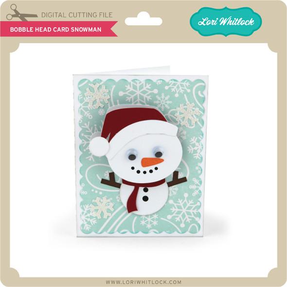 Bobble Head Card Snowman