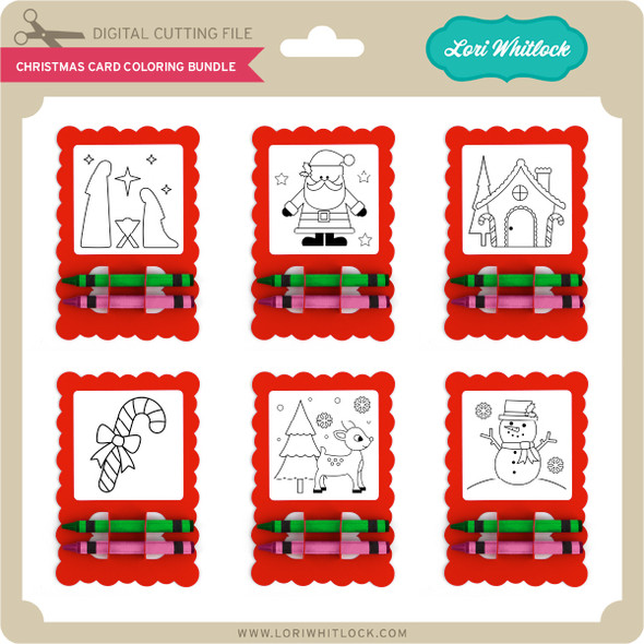 Christmas Card Coloring Bundle