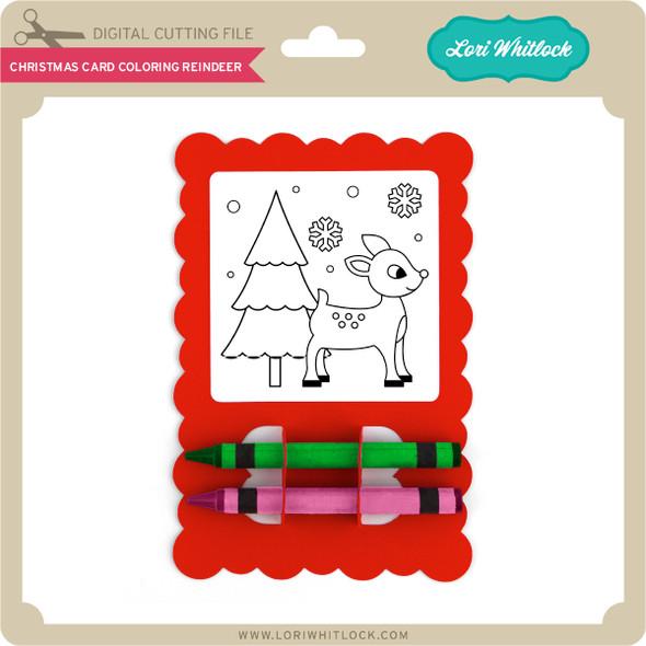 Christmas Card Coloring Reindeer