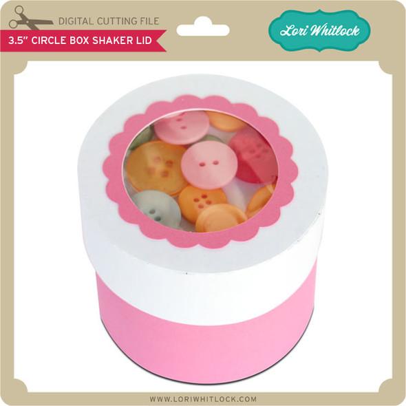 "3.5"" Circle Box Shaker Lid"