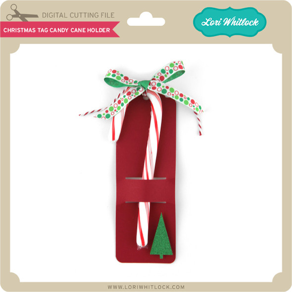 Christmas Tag Candy Cane Holder