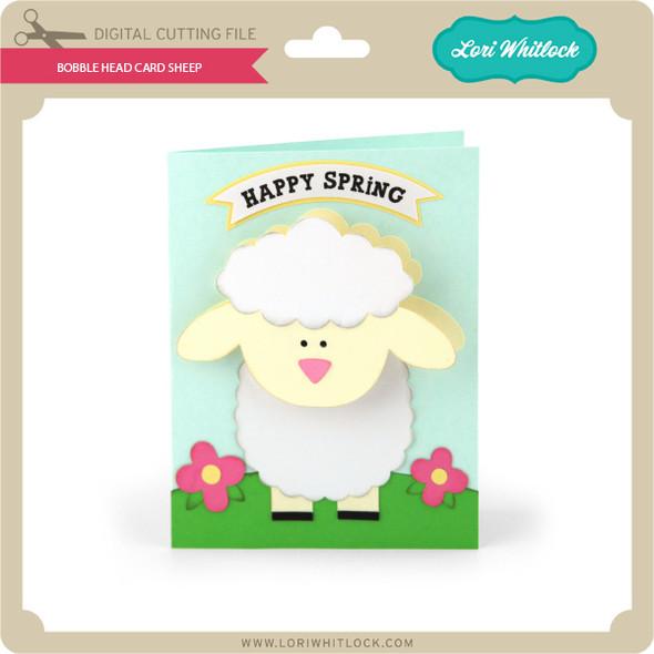 Bobble Head Card Sheep