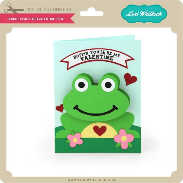 Bobble Head Card Valentine Frog