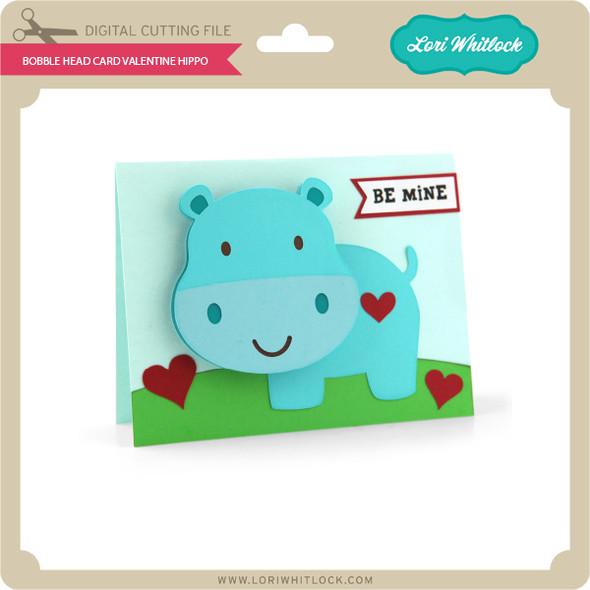 Bobble Head Card Valentine Hippo