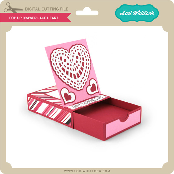 Pop Up Drawer Lace Heart
