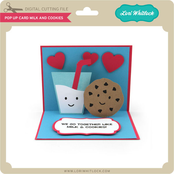 Pop Up Card Milk and Cookies
