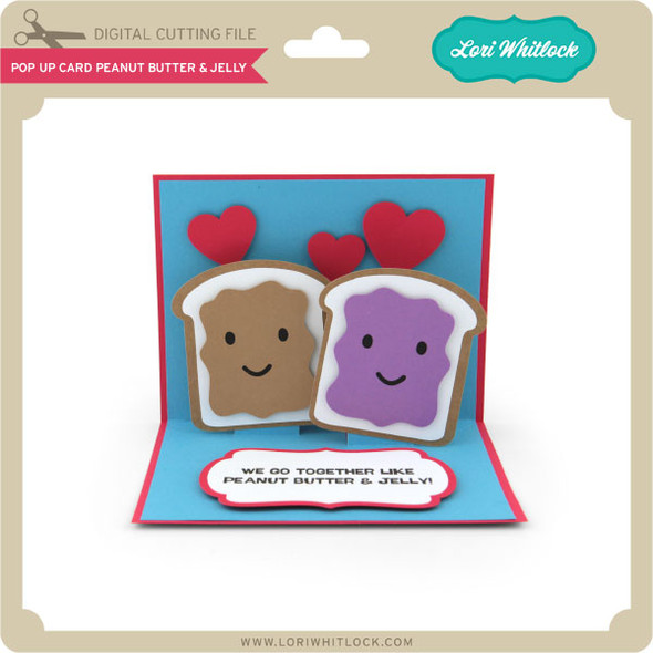 Pop Up Card Peanut Butter and Jelly