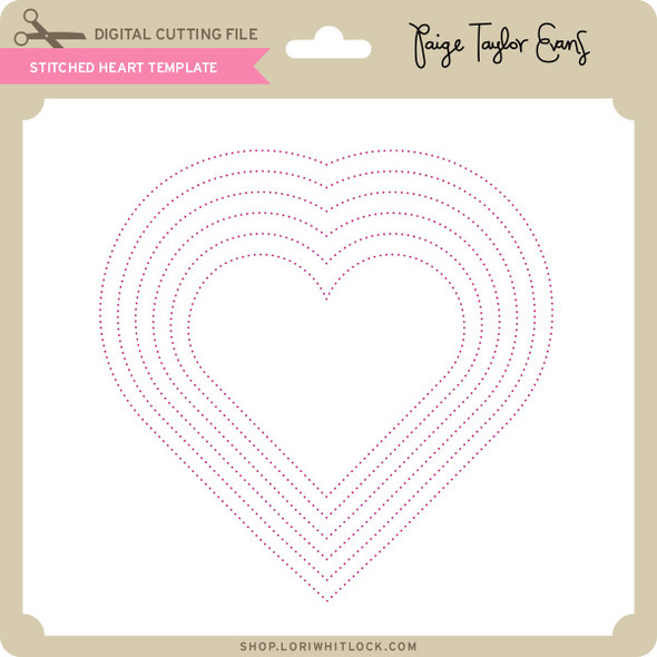 Stitched Heart Template