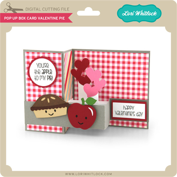 Pop Up Box Card Valentine Pie
