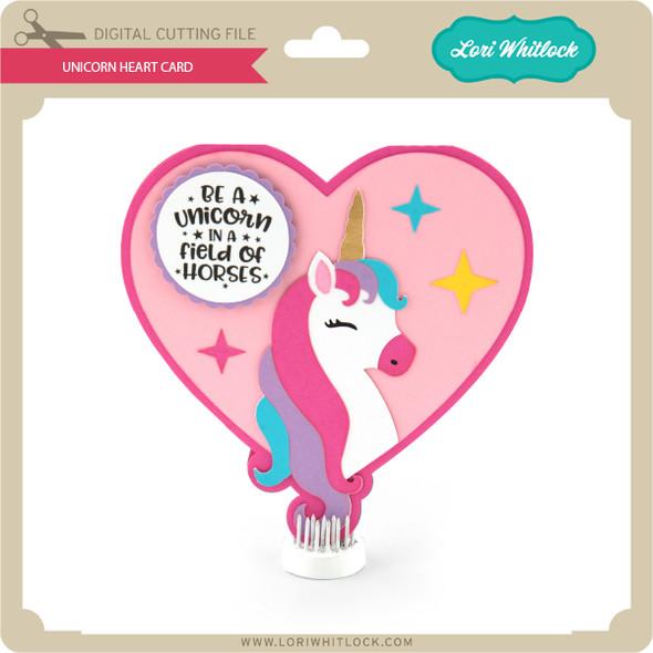Unicorn Heart Card
