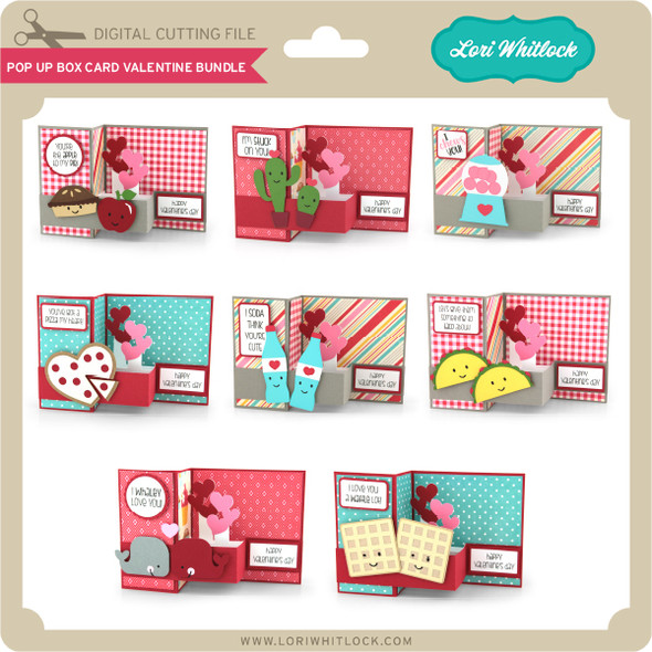 Pop Up Box Card Valentine Bundle 2