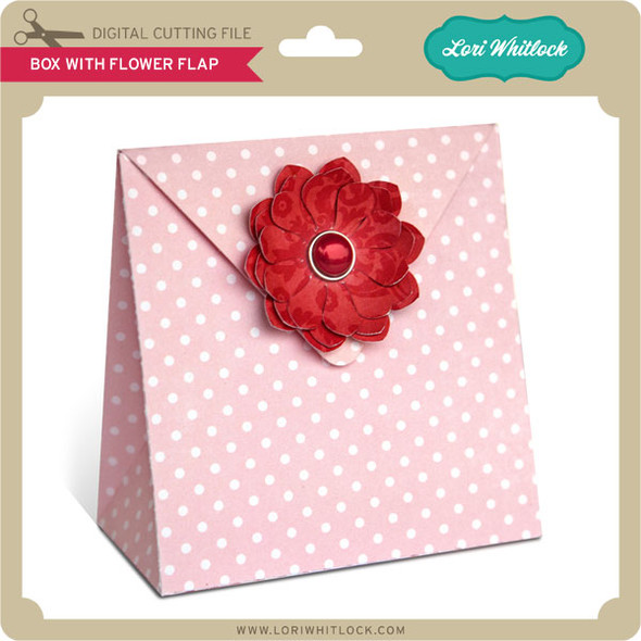 Box with Flower Flap