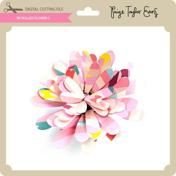 PE Rolled Flower 3