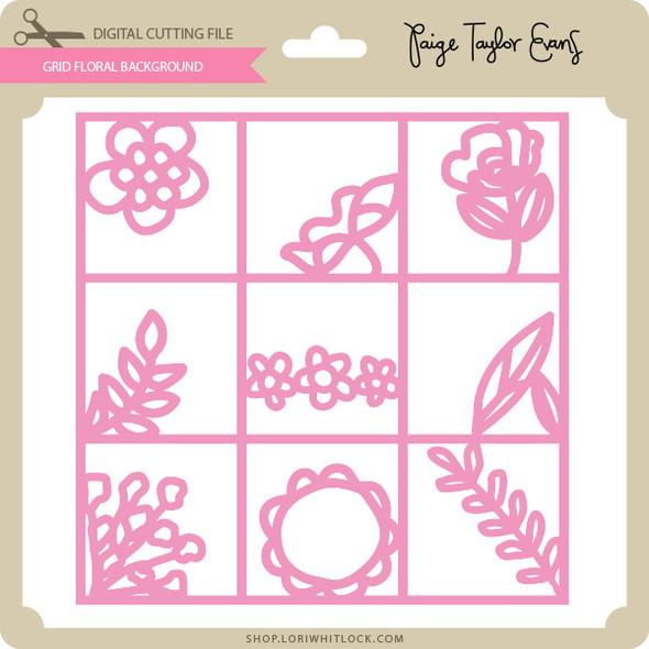 Grid Floral Background