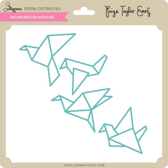 Origami Birds Background