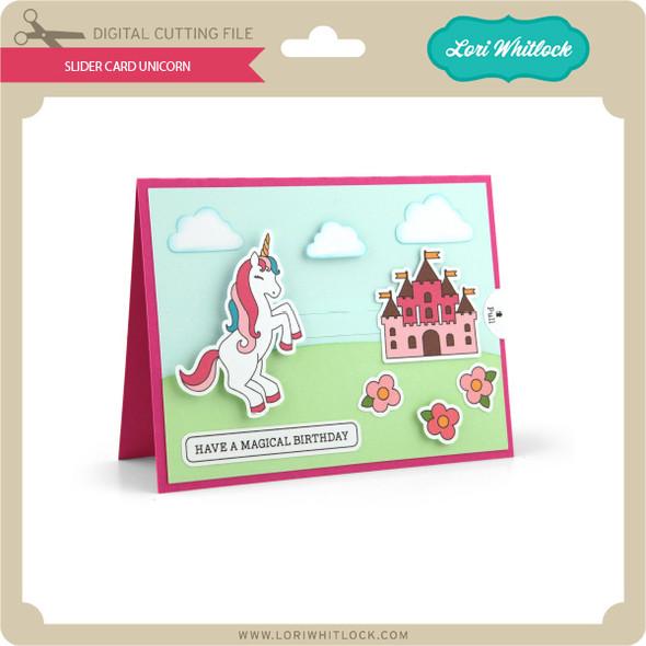 Slider Card Unicorn