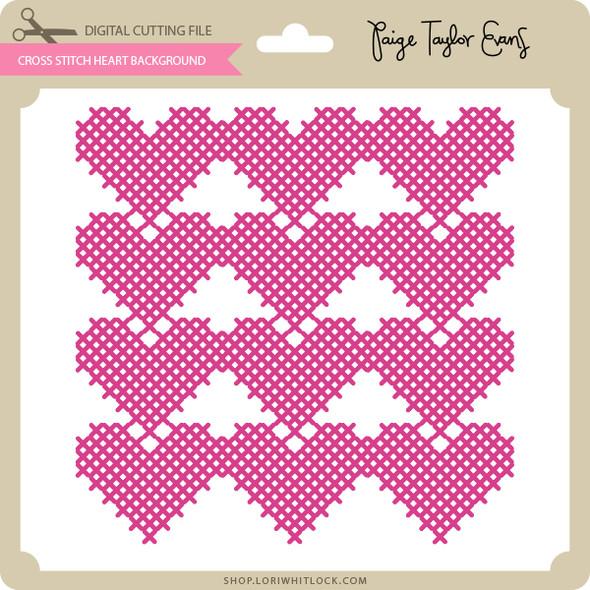 Cross Stitch Heart Background