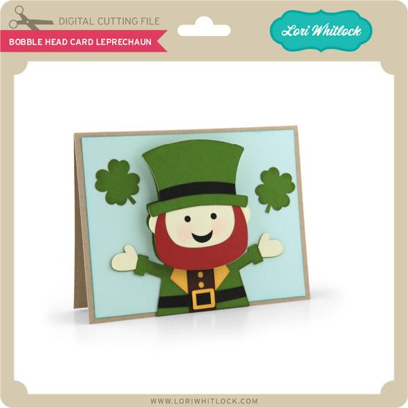 Bobble Head Card Leprechaun