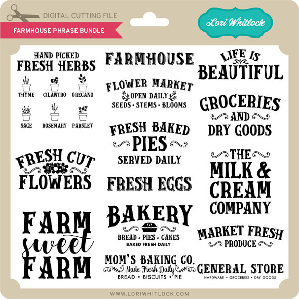 Farmhouse Phrase Bundle