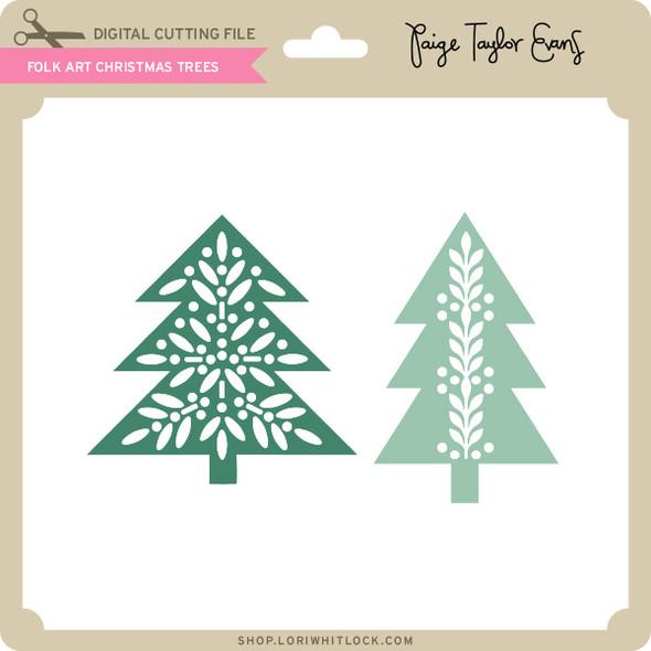 Folk Art Christmas Trees