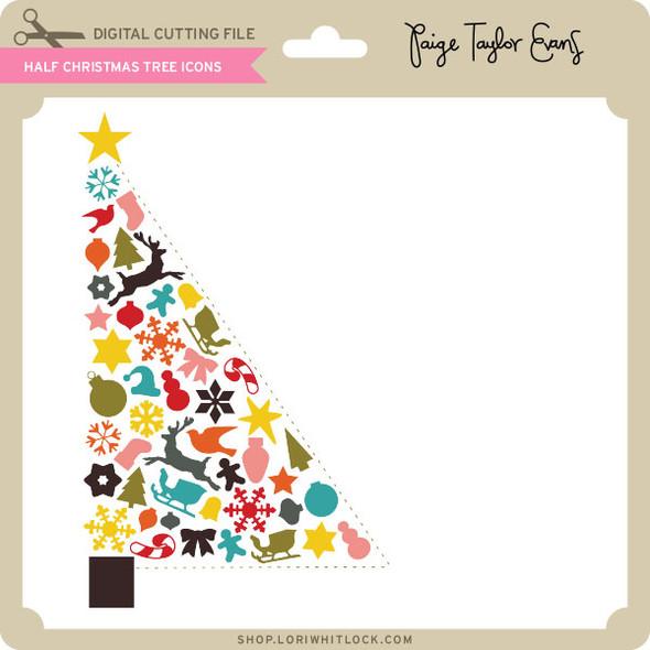 Half Christmas Tree Icons