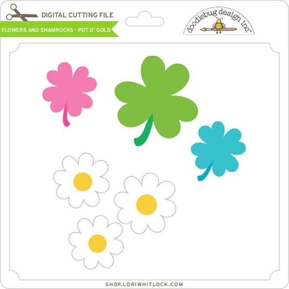 Flowers and Shamrocks - Pot O' Gold