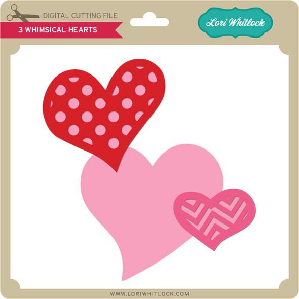 3 Whimsical Hearts