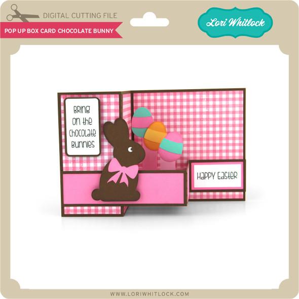 Pop Up Box Card Chocolate Bunny