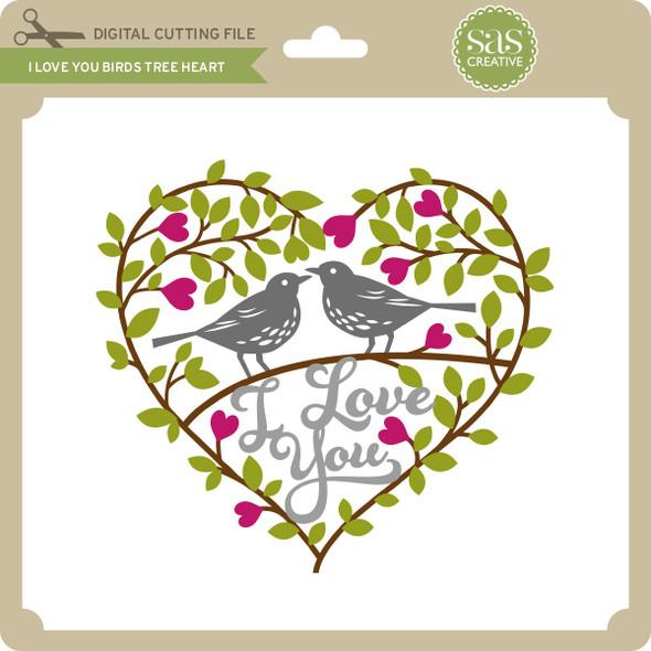 I Love You Birds Tree Heart