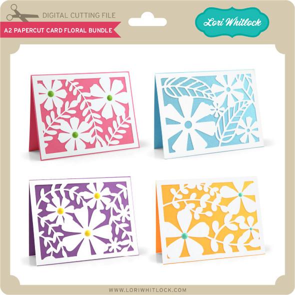 A2 Papercut Card Floral Bundle