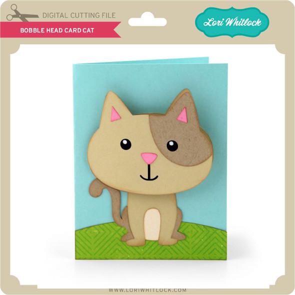 Bobble Head Card Cat