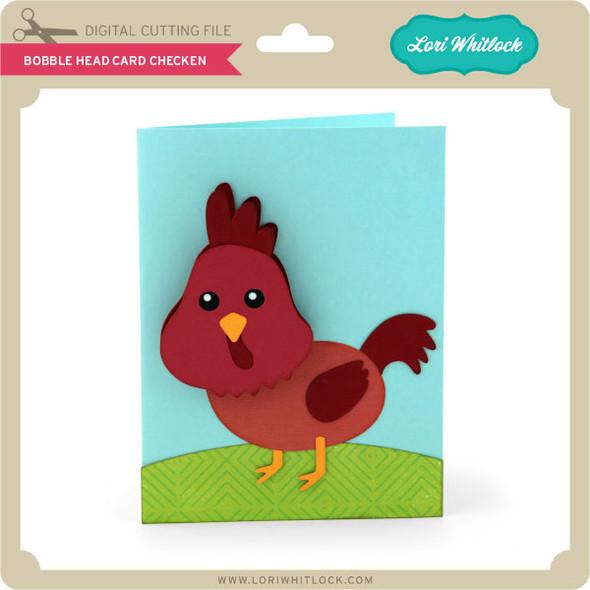Bobble Head Card Chicken