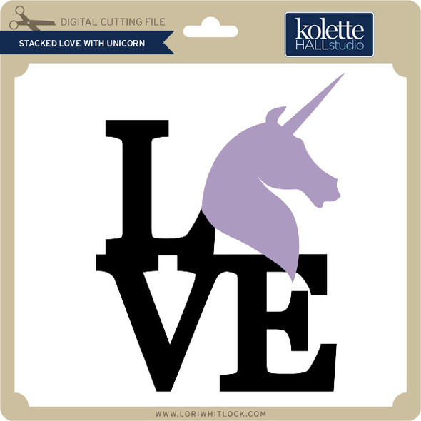 Stacked Love with Unicorn
