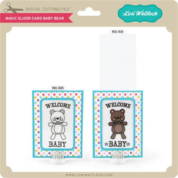 Magic Slider Card Baby Bear