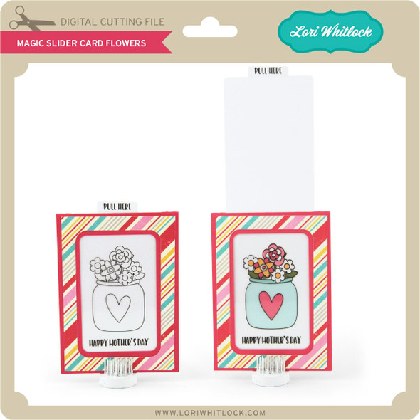 Magic Slider Card Flowers