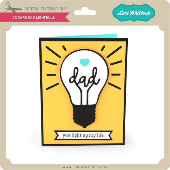 A2 Card Dad Lightbulb
