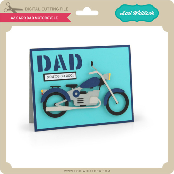 A2 Card Dad Motorcycle