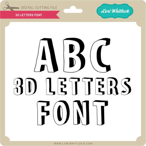 3D Letters Font