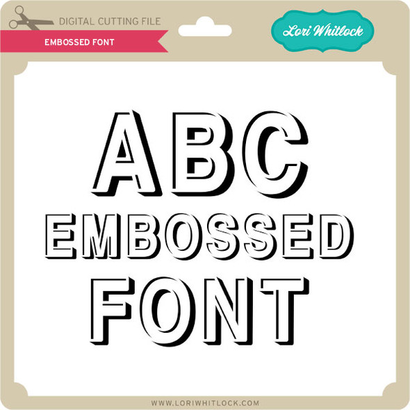 Embossed Font