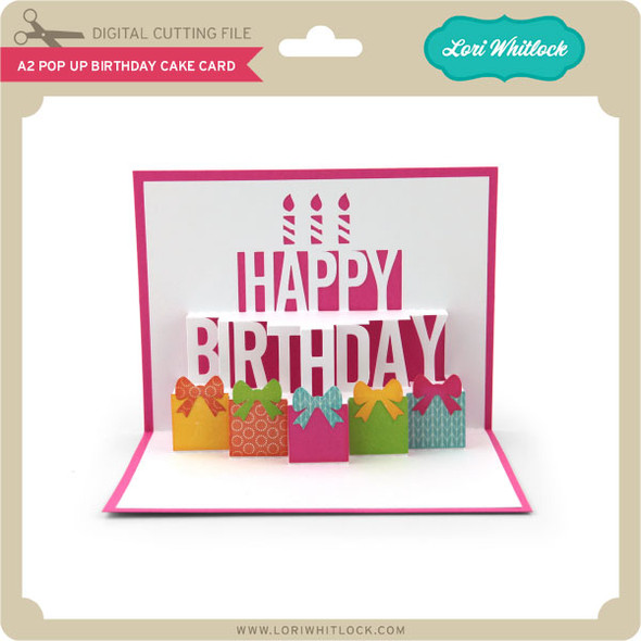 A2 Pop Up Birthday Cake Card