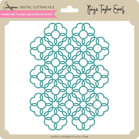 Geometric Flower Background 8_5 x 11