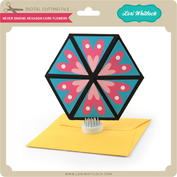 Never Ending Hexagon Card Flowers