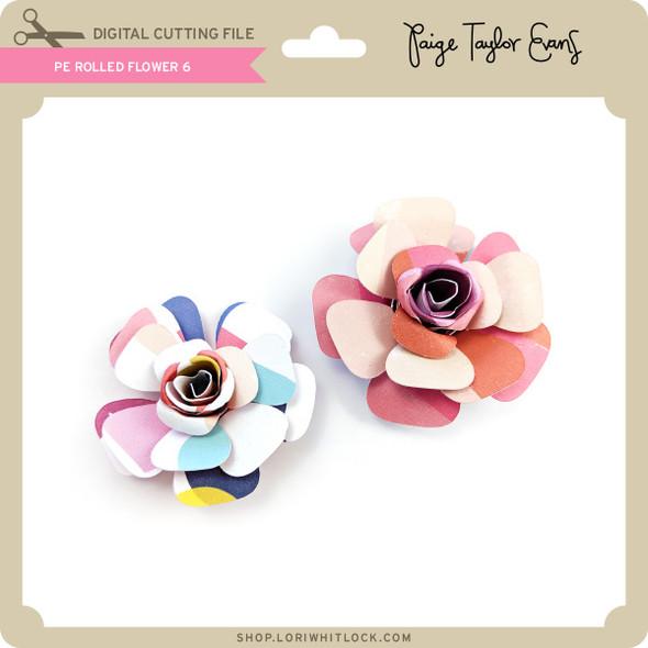 PE Rolled Flower 6