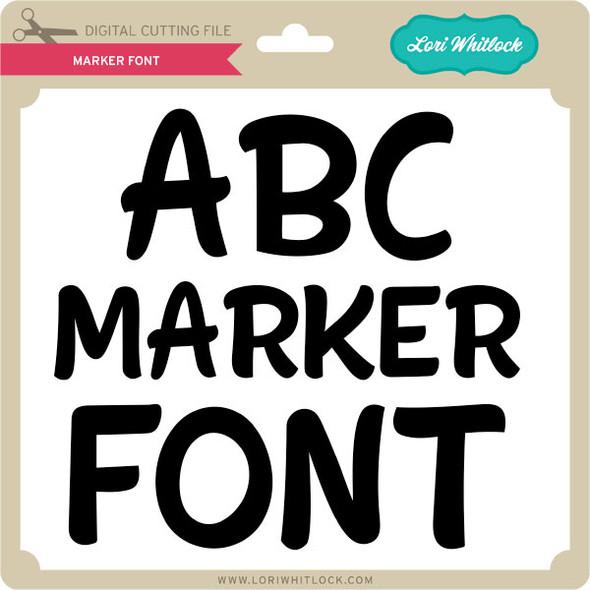 Marker Font 2