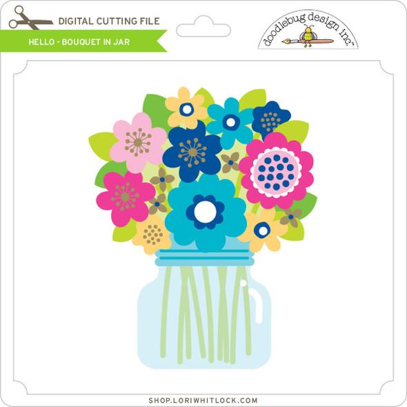 Hello - Bouquet in Jar